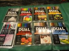 8 pkts TOMBOW DUAL BRUSH ART PENS MARKERS sealed new pens includes advanced set