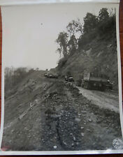 WWII PHOTO of US ARMY VEHICLES on LEDO ROAD NAGA HILLS BURMA 1944