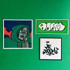 MF DOOM Vinyl Hip Hop Sticker Set