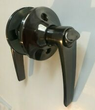 """Privacy Locking Door Lever Fits Door Thickness 7/8"""" to 1 3/8"""" Satin Pewter RV"""