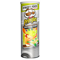 PRINGLES Street Food Edition Thai Green Curry FULL UNOPENED CAN - EXPIRED