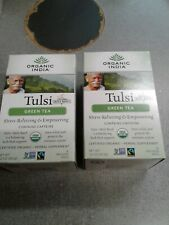 Organic India Tulsi Green Tea, 18-Count Teabags 2 Pack