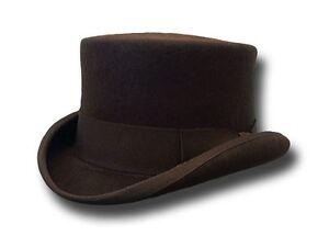 Hat HALF TOP HAT stage coach brown