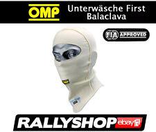 FIA OMP Unterwäsche First Balaclava außenliegende Nähte Komfort Kopfhaube