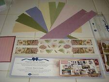 CREATIVE MEMORIES FLOWER BUD PAPER STRIPS & POTPOURRI ACCENT STICKERS
