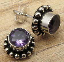 Online Store ! Price Start From $0.99 ! 925 Silver Plated Amethyst Earrings