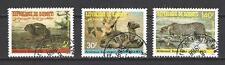 Animaux Faune sauvage Djibouti (126) série complète 3 timbres oblitérés