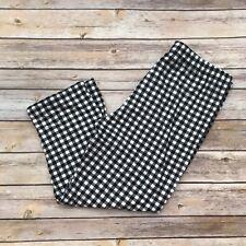 Black & White Checkered CAPRI Women's Leggings OS One Size 2-12 Super Soft