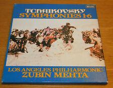 6 LP BOX tchaikovsky ZUBIN MEHTA symphonie 1-2-3-4-5-6 decca D95D-6 LOS ANGELES