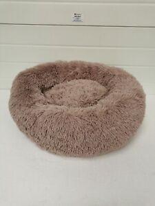 Comfortable Donut Cuddler Round Dog Bed Brown
