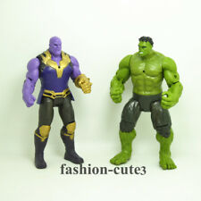New 2pcs Lot Avengers: Infinity War Hulk Thanos  Action Figures Toy Kids Gift