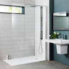 Hudson Reed 900mm Wetroom Shower Screen 8mm Glass 1950mm High + Support Arm