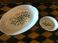 Set Lenox Porcelain China Holiday Dishes Bless This Home Believe
