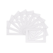 Picture  Mounts Frames Mount Pack of 10 - Various Sizes  A4 A3  White