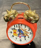 Disney Quartz Winnie The Pooh Alarm Clock Tigger Piglet Eeyore -Double Bell