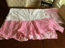 Pottery Barn Teen Twin Pink Leopard Cheetah Print Bed Skirt Dust Ruffle