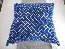 "CALLISTO HOME Royal Blue Velvet Decorative Pillow 24"" x 24"" TJX1373B11"