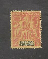 Guadeloupe #40 VF MVLH 1892 40c Navigation and Commence - SCV $24.00