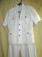 LAUREN by Ralph Lauren white pantsuit   Size 12P/  P/L