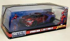 Jada 1/24 Scale - Marvel Spiderman Figure + 2017 Ford GT Diecast model car