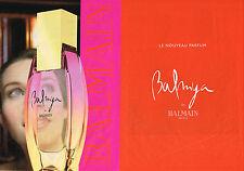 PUBLICITE ADVERTISING 045  2003  PIERRE BALMAIN  parfum femme BALMYA  ( 2 pages)
