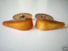 Russische Natur Bernstein Manschetten 5,8 g Butterscotch Genuine Amber