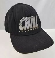 Vtg Columbus Chill Baseball Cap Trucker Hat ECHL Hockey Adjustable Black New Era