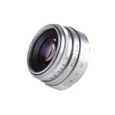 35mm f/1.6 C mount CCTV Lens for Nikon F AI D5600 D850 D7500 D7200 D3400 Silver
