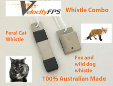 Best Fox Whistle, Dog Whistle and Feral Cat Whistle Twin Pack, Dog Cat Fox Call