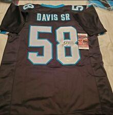 Thomas Davis Carolina Panthers Autographed Signed Jersey JSA COA