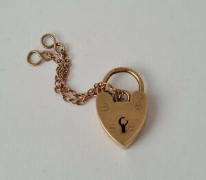 9 ct / 375 Yellow Gold Heart Shaped Padlock 1964/ L 1.8 cm/ 2.6 g.