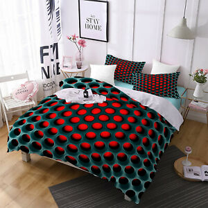 3D Honeycomb Duvet Cover Quilt Cover Comforter Cover Bedding Set Pillowcase Twin