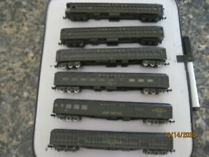N scale  Train set of 6 Lima/Rivarossi Santa Fe Heavyweight passenger cars.