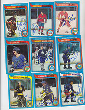 1979-80 TOPPS SIGNED CARD PIERRE LAROUCHE CANADIENS PENGUINS WHALERS RANGERS 233