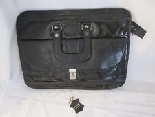 VINTAGE Sir Lawrence LEATHER MESSENGER DOCUMENT  BAG W/ KEY  ~~~~~LOT #21