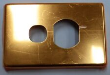 CLIPSAL C2000  POLISHED BRASS ALUMINIUM GOLD COVER SINGLE POWERPOINT C2015CGD