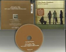 MAGIC NUMBERS Love's a Game UNRELASE AUDIO TRK & 2 VIDEO UK DVD Single USA Seler
