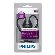 BRAND NEW GENUINE PHILIPS SHS3200/10 EAR HOOK HEADPHONES BLACK EARPHONES