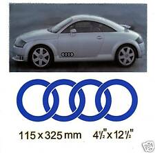 PAIR AUDI RINGS GRAPHICS DECALS STICKERS KIT 074