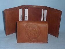 BOSTON CELTICS    Leather TriFold Wallet     NEW     brown z+  --sd