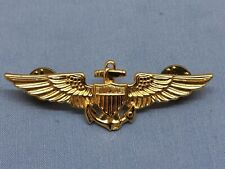 US Navy Aviation Wing Badge Naval Aviator Pilot Pin Insignia Gold Plated V-21-N