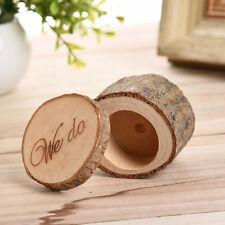 """we do "" Romantic Wedding Ring Holder Wood Box Storage Vintage Decor For Wedding"