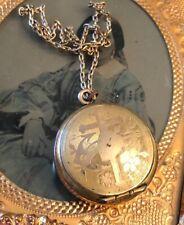 Vintage 12k GF Religious Trinket Box Pendant Mini Rosary Box Cross Heart Anchor