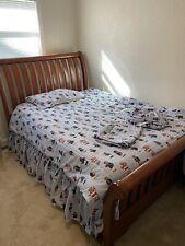 Rare Vintage USA Ralph Lauren Polo Teddy Bear Stripe Twin Comforter Quilt EUC
