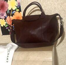 NWT LONGCHAMP Leather Shoulder Crossbody Bag BURGUNDY