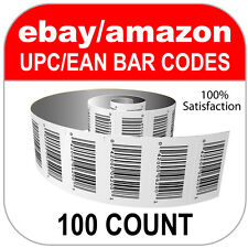 100 UPC Numbers GS1 Barcodes Bar Codes Amazon eBay Plus Images for Labels
