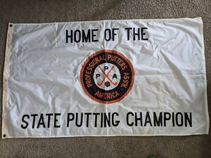 Vintage National Putters Association State Putting Champion Flag 3x5' VERY RARE
