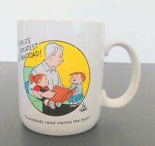 VTG Family Circus Hallmark 10 Ounce Oz. Mug Cup World's Greatest Grandad Grandpa