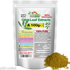 100g (3.53oz) Olive Leaf Powder Extract in Pouch- 20% Oleuropein - FREE Ship (P)