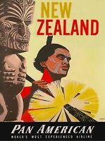 New Zealand Pan American  Advertisement Print